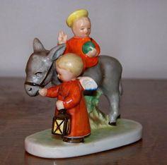 Vintage GOEBEL Hummel Nativity HX-28 Baby Jesus & Angel TMK-1&2 Candle Holder