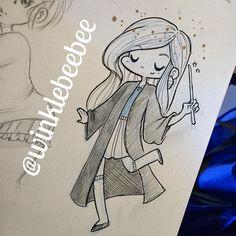 """""""November 13th #dailydrawing [Lovegood]. More Luna because she's adorable lol. #art #artstagram #drawing #illustration #sketch #sketchbook #doodle #ink…"""""""