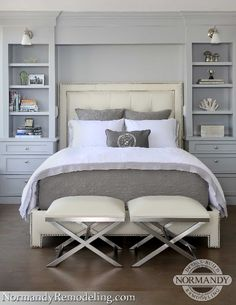 built in night stands around bed in master-Exterior & Interior Home Renovation in Chicago   Normandy Remodeling