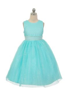 Flower Girl Dress Style 1031 - Sleeveless Tulle Dress with Beaded Waist in Choice of Color  Classic beauty with extra flare. We love this style because it can be worn from event to event. So much versatility! This is a style that is timeless and can be passed from one generation to the next.  http://www.flowergirldressforless.com/mm5/merchant.mvc?Screen=PROD&Product_Code=RK_1031AQ&Store_Code=Flower-Girl&Category_Code=Turquoise