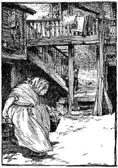 """From 'Fundevogel'. """"Grimm's Fairy Tales"""" illustrated by Arthur Rackham, 1909"""