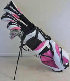 Golf Clubs - Ladies Complete Golf Club Set for Petite Women 5055 Tall Driver Fairway Wood Hybrid Irons Putter Stand Bag Ladies Golf Clubs, Ladies Club, Best Golf Clubs, Pink Ladies, Dubai Golf, Golf Putting Tips, Golf Club Sets, Golf Tips For Beginners, Womens Golf Shoes
