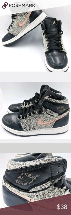 35dba13eed2058 Nike Air Jordan Retro 1 High Faux Fur Basketball Girls  Nike Air Jordan  Retro 1