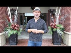 Great use for our metal Work Ball forms! CHRISTMAS DIY / How To Decorate Your Porch/Patio Urns / Outdoor Christmas Decorations - YouTube