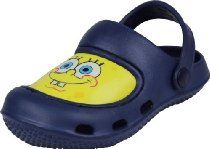 af2aeb3e33f8 Spongebob Squarepants Navy Blue Toddler Boys Clogs Shoes 5 6-9 10