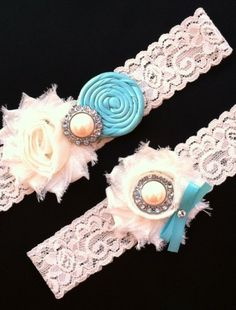 Wedding Garter. Hand made and vintage! Love it!!