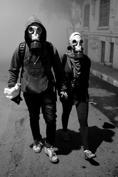 Muslims and Antifa Have Taken Paris Couple Style, Bad Girl Aesthetic, Aesthetic Grunge, Apocalyptic Fashion, Post Apocalyptic, Cyberpunk, Gas Mask Girl, Cute White Boys, Dark Thoughts