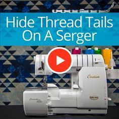 Hiding thread tails on a serger Superior Thread - You-Tube Video with Sue Green-Baker Sewing Basics, Sewing Hacks, Sewing Tutorials, Sewing Tips, Sewing Ideas, Video Tutorials, Serger Projects, Sewing Projects For Beginners, Brother 1034d