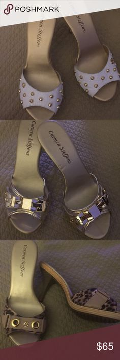 Shoes Slide shoes designed by Carmen Steffens. Brand new. I have 3 different colors size 7 and one size 9 Carmen Steffans  Shoes Sandals