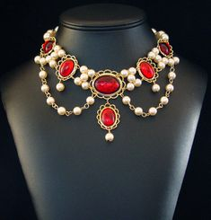 LADY EMMA Renaissance Medieval Necklace 4 Tudor by DRAGONPIPES
