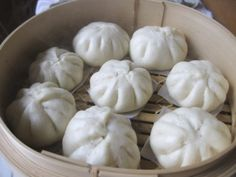 Chicken Bao!  They freeze up to 6 months (freeze before steaming)