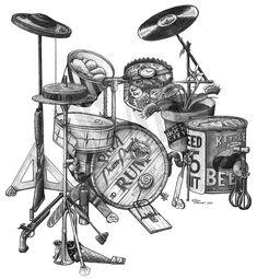 drum art | Drums | DS Art. * http://www.pinterest.com/TheHitman14/musician-drummers-%2B/