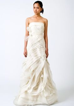 Mermaid Strapless Gazaar Organza wedding Dress Style Erica-1. $279