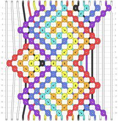 Normal friendship bracelet pattern added by BlueG. Bracelet Making, Jewelry Making, Diamond Knot, Diy Friendship Bracelets Patterns, Embroidery Bracelets, Heart Chain, Loom Beading, Weaving, Beads