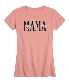 Instant Message Womens Desert Pink Mama Of Three Relaxed-Fit Tee - Women & Plus | Zulily