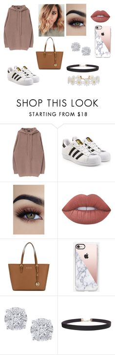 """Untitled #97"" by alicia-goodin on Polyvore featuring adidas Originals, Lime Crime, MICHAEL Michael Kors, Casetify, Effy Jewelry and Humble Chic"