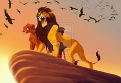 Ahadi and Uru. Mufasa and Scar's parents Lion King