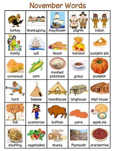 November and December words Thanksgiving History, Thanksgiving Words, Thanksgiving Activities, Autumn Activities, Kindergarten Thanksgiving, English Activities, Language Activities, Writing Activities, Preschool Activities