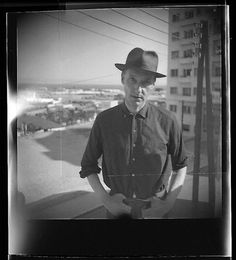 A self-portrait Burroughs took in 1959 in Tangier where he spent several years working on the manuscript that would become Naked Lunch.