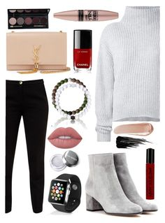 """""""Around town"""" by ekjohnson1216 on Polyvore featuring Le Kasha, Ted Baker, Gianvito Rossi, Yves Saint Laurent, Apple, Lime Crime, Chanel, NARS Cosmetics, Urban Decay and NYX"""