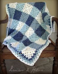 Lakeshore Plaid Blanket | AllFreeCrochetAfghanPatterns.com