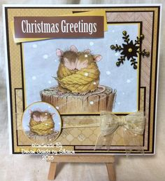 Using the new card making pad from Joanna Sheen Christmas Greetings, Christmas Crafts, Creative Book Covers, House Mouse Stamps, Craft Projects, Projects To Try, Book Sculpture, Book Illustrations, Card Designs