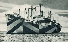 Norman Wilkinson's Razzle Dazzle patterns used in World War II to camouflage naval ships
