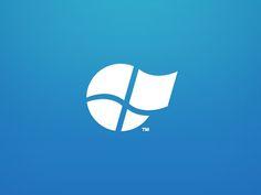 My rebound of the Windows 8 redesigned logo.