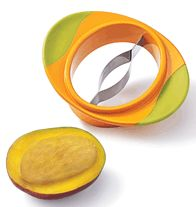 """Mango Corer This tool helps slice cleanly through. 6 3/4"""" L x 5 1/4"""" W x 1 1/4"""" H. Dishwasher safe. Stainless steel, plastic.  You can purchase items 24/7 from ALL States, in the USA.  Products are Shipped to your home.  Check out my Avon Webstore.  http://smoore6869.avonrepresentative.com/"""