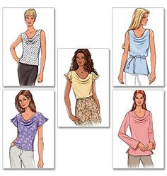 """Butterick 4132. Silks, crepes, double georgette, challis, jersey. View E (long sleeves) requires 2.5 yards 45"""" or 2 yards 60""""."""