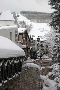 Vail, Colorado..covered bridge.  Gore Creek below...a favorite place when I was a little girl living in Vail.