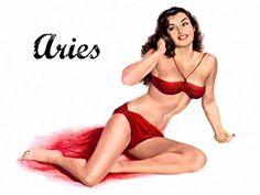 Zodiac Pinup- Red Hott Aries