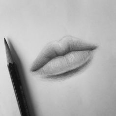 Need some drawing inspiration? Well you've come to the right place! Here's a list of over 20 amazing lip drawing ideas and inspiration. Why not check out this Art Drawing Set Artist Sketch Kit, perfect for practising your art skills. Pencil Art Drawings, Realistic Drawings, Art Drawings Sketches, Drawing Lips, Drawings Of Lips, Drawing Art, Mouth Drawing, Drawing With Pencil, Drawing Portraits