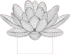 Acrile LED Lotus flower 3D illusion lamp vector file