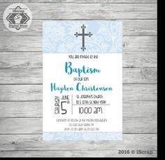 Primera comunión invitación, invitar comunión bautizo invitación de niño invitación puntos de invitación de bautismo para imprimir 26 de iscrapdesign en Etsy