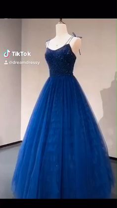 Navy Prom Dress - 2020 navy long prom dress with tie straps, beaded bodice and lace up back. Source by dreamdressyoffical - Navy Prom Dresses, Pretty Quinceanera Dresses, Gala Dresses, Beautiful Prom Dresses, Elegant Dresses, Pretty Dresses, Long Navy Dress, Royal Blue Long Dress, Black And Blue Dress