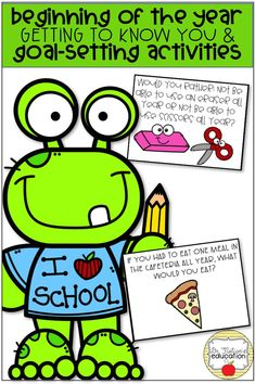 """Need more than a """"Meet the Counselor"""" lesson? Try a get to know you and goal setting for your first guidance classroom lesson with your elementary students! The New School, New School Year, Back To School, Morning Meeting Activities, Goal Setting Activities, Guidance Lessons, School Psychology, School Counselor, Getting To Know You"""
