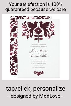 Mexican Otomi Wedding Invitation - Burgundy - tap to personalize and get yours #mexican #otomi #burgundy #wedding #invitation Mexican Wedding Invitations, Burgundy Wedding Invitations, Watercolor Wedding Invitations, Custom Invitations, Colored Envelopes, White Envelopes, Mexican Themed Weddings, Envelope Liners, Paper Texture