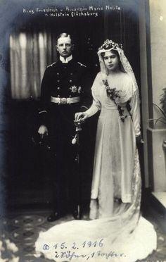 Prince Friedrich of Holstein-Glucksburg and Princess Marie Melita of Hohenlohe-Langenburg.