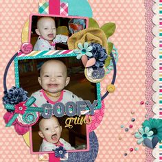 3 image digital scrapbooking layout. credits: My Person by meghan Mullens and melissa bennett