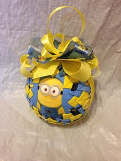 Minions Inspired Quilted Star Christmas Ornament by ncgalcreations