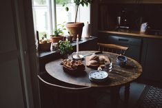 Sandra Murholt by Babes in Boyland when I was a little girl I thought so much about a kitchen just like this ... dark wood, blue and white china, fresh baking