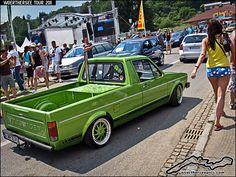 Green Mk1 VW Golf Caddy pickup truck on OZ Turbo wheels by retromotoring, via Flickr