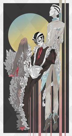Lil Black, Black And White, Chinese Art, Anime Art, Identity, Geek Stuff, Kawaii, Joseph, Character Design