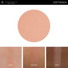 Eye Shadow Singles with skin swatch in the shade Soft Peach