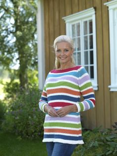 Sweater knitted in Softknit Cotton by Rowan and Sumatra by PT Design.