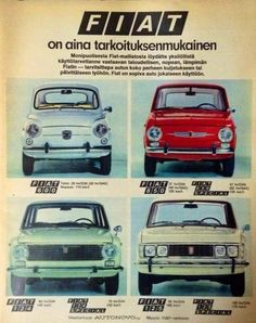 Fiat Cars, Old Commercials, Fiat 600, Fiat Abarth, Good Old Times, Steyr, Cars And Motorcycles, Car Seats, Retro Vintage