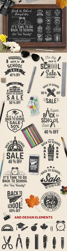 The Big Back to School Sale Badges - PSD, Vector EPS, AI Illustrator