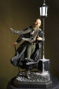 One of a kind Portrait Doll of Fyodor Dostoevsky by Natalia Filinova as a present to The Alexandria Theater Saint Petersburg.