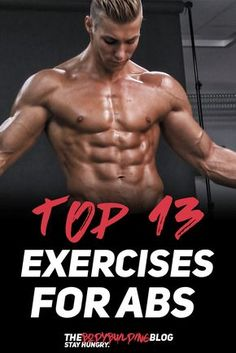 Top 13 Exercises for Shredded Abs! #fitness #gym #exercise #workout #abs #fit